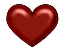 Het rode hart van Kerstmis stock afbeeldingen