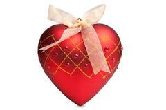 Het rode hart van Kerstmis Royalty-vrije Stock Afbeeldingen