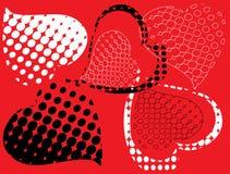 Het rode hart is zwart. Stock Fotografie