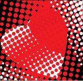 Het rode hart is zwart. Stock Foto