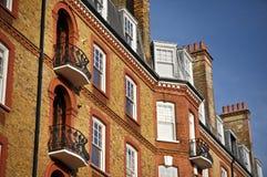 Het rode Herenhuis van de Baksteen, Londen Stock Afbeelding