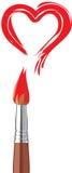 Het rode hert van Valentin vector illustratie