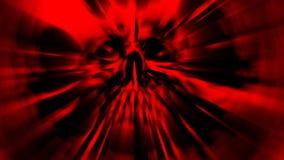 Het rode hoofd van het monster Illustratie in genre van verschrikking stock illustratie