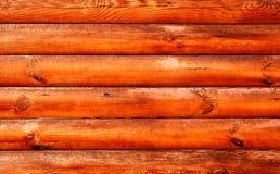 Het rode hout van het logboekhuis Royalty-vrije Stock Foto