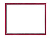 Het rode houten kader van de beeldfoto Stock Afbeeldingen