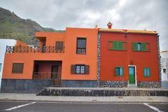 Het rode huis van Spanje Royalty-vrije Stock Foto's