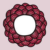 Het rode kader van de krabbelbloem Royalty-vrije Stock Foto