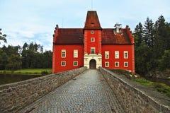 Het rode kasteel royalty-vrije stock afbeelding