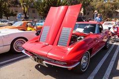 Het rode Korvet van Chevrolet van 1963 Stock Foto's