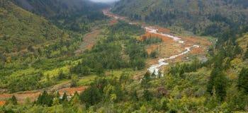 Het rode landschap van de rotsenvallei Stock Fotografie