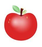 Het rode Leuke Beeldverhaal van Apple royalty-vrije stock afbeeldingen