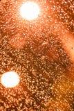 Het rode licht van het toononduidelijke beeld bokeh De achtergrond van Defocused Royalty-vrije Stock Foto