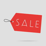 Het Rode licht van het verkoopetiket Royalty-vrije Stock Fotografie