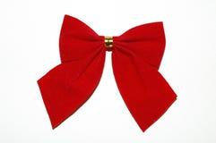 Het rode lint van Kerstmis Royalty-vrije Stock Foto