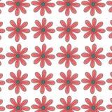 Het rode madeliefje bloeit patroon bloemenontwerp royalty-vrije illustratie