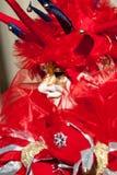Het Rode masker van de joker Royalty-vrije Stock Afbeelding