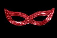 Het rode masker van de maskerade Stock Fotografie