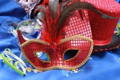 Het rode Masker van het Oog Stock Afbeelding