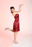 Het rode meisje van de kledingsactie Royalty-vrije Stock Fotografie