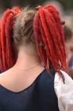 Het rode Meisje van het Haar Royalty-vrije Stock Foto's
