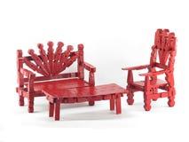 Het rode Meubilair van de Wasknijper Stock Foto's