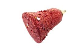 Het rode mooie stuk speelgoed van Kerstmis Stock Afbeeldingen