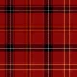 Het rode Naadloze Patroon van het Geruite Schotse wollen stof Royalty-vrije Stock Afbeelding