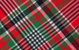 Het rode Naadloze Patroon van het Geruite Schotse wollen stof Stock Foto