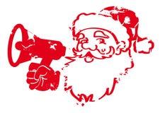 Het rode ontwerp van Santa Claus Stamp Stock Illustratie
