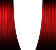 Het rode Openen van het Gordijn Stock Afbeelding