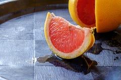Het rode oranje zijcentrum van het wiglandschap Stock Foto's