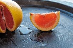 Het rode oranje zijdetail van het wiglandschap Stock Fotografie