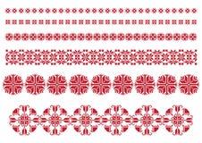 Het rode Ornament van Bloemen Royalty-vrije Stock Afbeelding