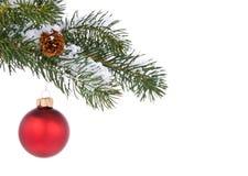 Het rode ornament van de Vakantie Stock Foto's