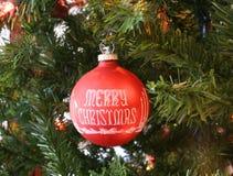 Het rode Ornament van Kerstmis Royalty-vrije Stock Foto