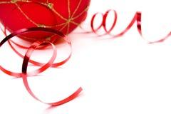 Het rode ornament van Kerstmis royalty-vrije stock fotografie