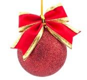 Het rode Ornament van Kerstmis Stock Foto