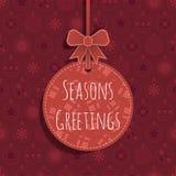Het rode Ornament van Kerstmis Royalty-vrije Stock Foto's