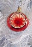Het rode Ornament van Kerstmis van de Draaikolk Royalty-vrije Stock Foto's