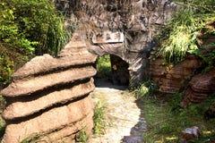 Het rode park van de steen bosgeologie in de provincie van Hunan, China Royalty-vrije Stock Fotografie