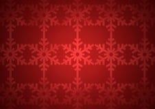 Het rode patroon van de Kerstmissneeuwvlok Stock Afbeelding
