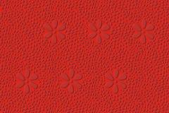 Het rode patroon van de schuine rand Stock Afbeeldingen