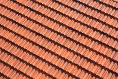 Het rode patroon van het tegeldak Stock Foto's