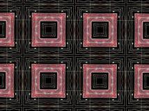 Het rode patroon van vierkanten geometrische vormen Stock Fotografie