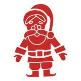 Het rode pictogram van de Kerstman, eenvoudige stijl stock illustratie