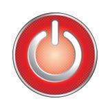 Het rode pictogram van de machtsknoop Stock Foto's