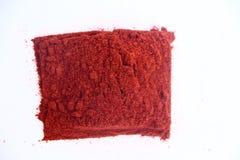 Het rode Poeder van de Spaanse peper Stock Foto