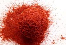 Het rode poeder van de Spaanse peperpeper Stock Foto
