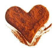 Het rode poeder van het hart Stock Afbeeldingen