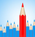 Het rode potlood Royalty-vrije Stock Afbeeldingen